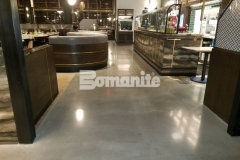 Our colleague, Beyond Concrete, installed Bomanite Modena SL custom polished concrete to create the interior flooring at Angeline by Michael Symon, and the sleek, modern design is a beautiful complement to the mixed media used throughout the dining establishment.