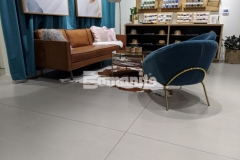 This custom polished concrete flooring in the Nickel & Suede flagship store features Bomanite Modena SL with the application of a Bomanite penetrating sealer to offer stain resistance and provide a low maintenance, durable surface that is refined and attractive.