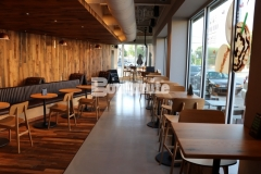 This stunning Bomanite Modena SL decorative concrete flooring was expertly installed by Musselman & Hall Contractors at the Starbucks coffeehouse in the Brookside community of Kansas City and the simple elegance perfectly complements the warm wood, copper accents, and natural lighting.