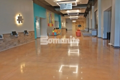 Bomanite Patene Teres was installed here to create a flooring surface that is extremely durable with distinctive design detail that adds beautiful depth and warmth to this space.