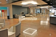 The Bomanite Patene Teres and Bomanite Patene Artectura systems were installed here by our associate, Texas Bomanite, to add breathtakingly beautiful architectural concrete flooring and create a warm, earthy, and inviting feel throughout the gathering spaces at Hope Fellowship Church.