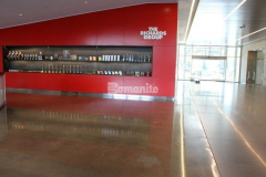 The Bomanite VitraFlor Custom Polishing System was installed in the lobby area and common spaces on eight floors at The Richards Group and was specifically chosen to create durable and decorative concrete flooring surfaces that complement the quality finishes and design throughout the building.
