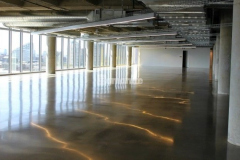 Excellent slip resistance and durability are only a couple of the benefits polished concrete offers and a deciding factor to install Bomanite VitraFlor to create various flooring surfaces throughout The Richards Group building near downtown Dallas.