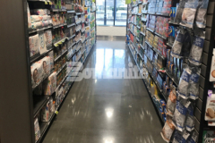 The newly finished flooring inside Brothers Marketplace in Waltham, MA was installed by our colleague Premier Concrete Construction and features the Bomanite VitraFlor Custom Polishing System – this sustainable polished concrete was the perfect choice for accommodating both patrons and equipment while providing durability, minimal maintenance requirements, and long-term sustainability.
