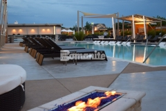 Our colleague, Bomanite of Tulsa, Inc., won the 2017 Best Bomanite Exposed Aggregate Project Bronze Award for their expert installation of this Bomanite Alloy decorative concrete, creating a stunning pool deck at the Hard Rock Hotel & Casino, and providing improved wear resistance for the foot traffic this hardscape surface will be subjected to.