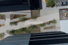 Our associate Bomel Construction Company received the 2019 Best Bomanite Exposed Aggregate Project Gold Award for their stellar installation of Bomanite Revealed at the Flight at Tustin Legacy, creating a sustainable hardscape surface with natural, non-skid properties that adds durability and distinct decorative detail.