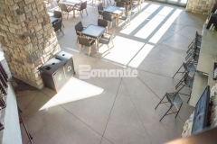 Featured here is Bomanite Sandscape Texture decorative concrete that was installed at the Gaylord Rockies Resort & Convention Center to create cohesion between the interior flooring and exterior hardscapes at this native Coloradan built resort.