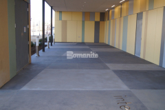 Bomanite Sandscape Texture is a highly durable and cost effective architectural concrete finishing option that utilizes specialized concrete mix designs containing select sands and aggregates and was installed by our colleague Bomanite of Tulsa, Inc. to create the exterior decorative concrete walkway and front entry for the newly constructed Tulsa County Family Center for Juvenile Justice.