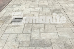 Bomanite stamped concrete in the Bomacron Ashlar Slate pattern was incorporated into the overall plaza surface design at the Tower Square pavilion, adding a decorative and durable surface that was skillfully installed by Connecticut Bomanite Systems and earned them the 2018 Bomanite Imprint Systems Bronze Award.