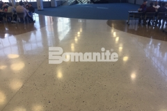 These stunning decorative concrete floors feature Bomanite Modena Monolithic that was poured in place with a free-flowing design to create a natural look and a lustrous finish that is durable and easy to maintain.